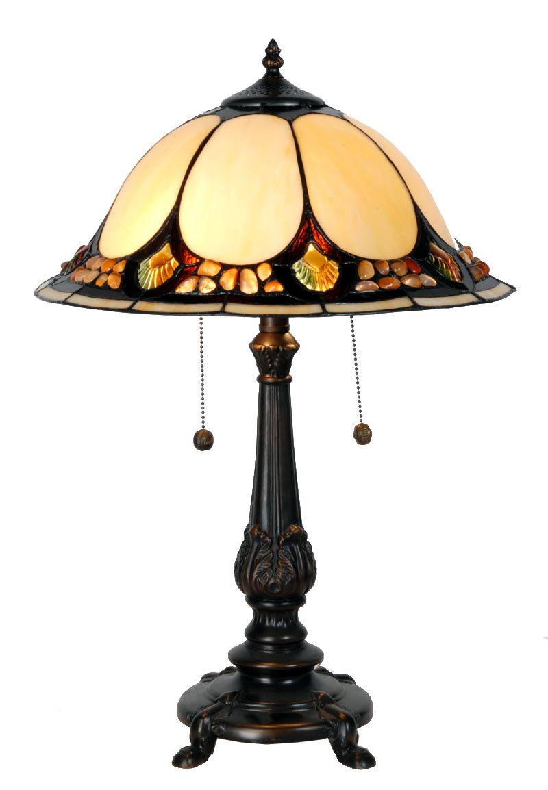 Pin features table lamp real tiffany glass dog theme handmade on